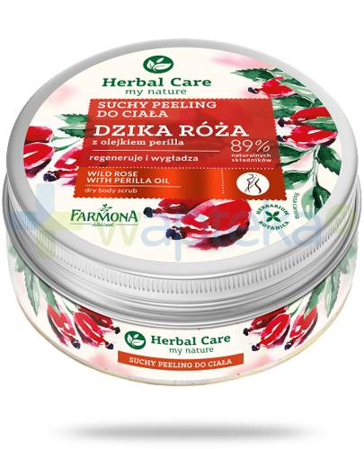 Farmona Herbal Care Dzika róża z olejkiem perilla suchy peeling do ciała 220 g