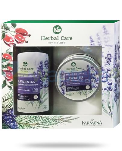 Farmona Herbal Care Lawenda płyn do kąpieli z mleczkiem waniliowym 500 ml + Farmona Herbal Care Lawenda masło do ciała z mleczkiem waniliowym 200 ml [ZESTAW]