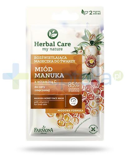 Farmona Herbal Care Miód Manuka z witaminą C maseczka rozświetlająca 2x 5 ml