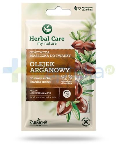 Farmona Herbal Care Olejek arganowy odżywcza maseczka do twarzy 2x 5 ml