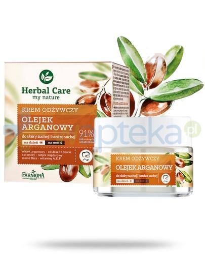 Farmona Herbal Care Olejek arganowy odżywczy krem do cery suchej i bardzo suchej 50 ml
