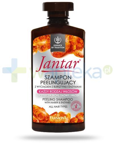 Farmona Jantar szampon peelingujący z wyciągiem z bursztynu do włosów każdego rodzaju 330 ml