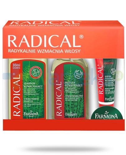 Farmona Radical Radykalnie wzmacnia włosy szampon 330 ml + mgiełka 200 ml + serum 30 ml [ZESTAW]