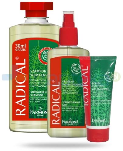 Farmona Radical ZESTAW szampon 330 ml + mgiełka 200 ml + serum 30 ml