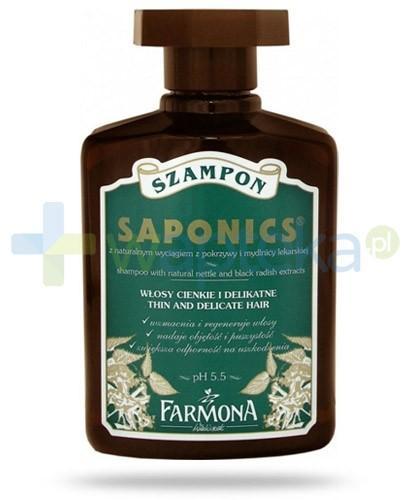 Farmona Saponics szampon z wyciągiem z pokrzywy i mydlnicy lekarskiej do włosów cienkich i delikatnych 300 ml