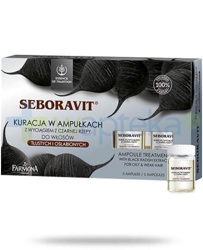 Farmona Seboravit kuracja w ampułkach z wyciągiem z czarnej rzepy do włosów tłustych i osłabionych 5 ampułek po 5ml
