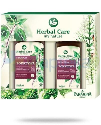 Farmona Herbal Care Pokrzywa szampon do włosów prztłuszczających się 330 ml + odżywka ekspresowa do włosów prztłuszcczających się 200 ml [ZESTAW]