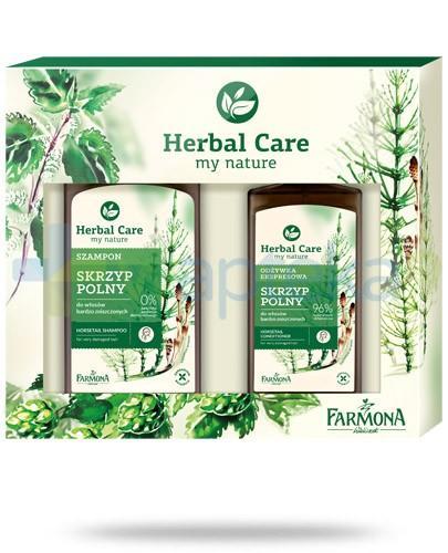 Farmona ZESTAW Herbal Care Skrzyp Polny szampon do włosów bardzo zniszczonych 330 ml + odżywka ekspresowa do włosów bardzo zniszczonych 200 ml