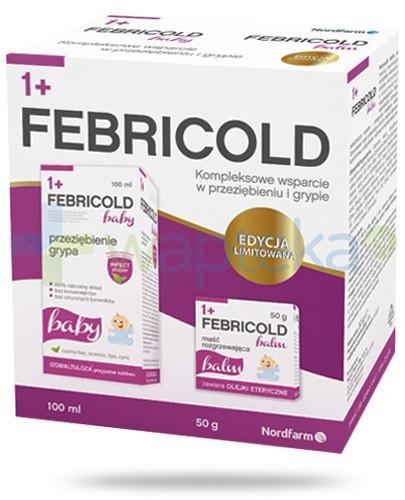 FebriCold Baby syrop dla dzieci 1+ na przeziębienie i grypę 100 ml + FebriCold Balm maść rozgrzewająca dla dzieci 50 g