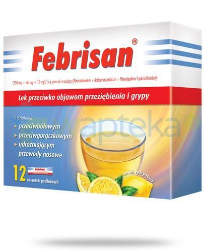 Febrisan proszek musujący o smaku cytrynowym 12 saszetek