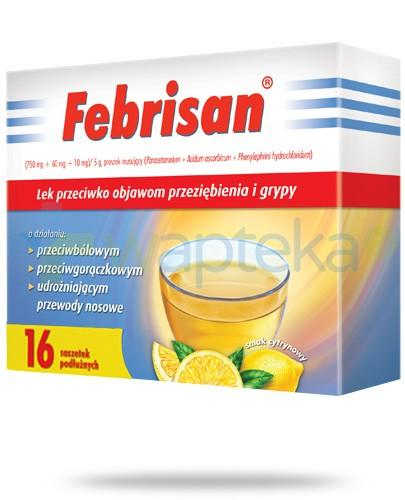 Febrisan proszek musujący o smaku cytrynowym 16 saszetek