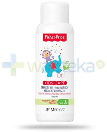Fisher Price Kids Care prebiotyczna emulsja 2w1 do mycia ciała i głowy 400 ml - wapteka.pl