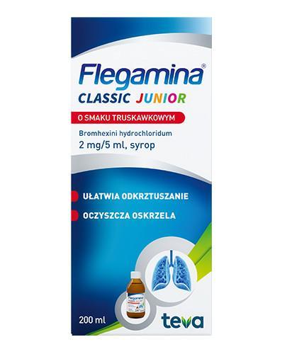 Flegamina Junior syrop 2mg/5ml o smaku truskawkowym 200 ml