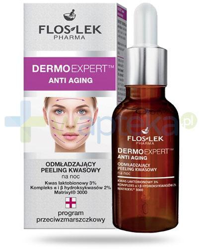 Flos-Lek Anti Aging odmładzający peeling kwasowy na noc 30 ml