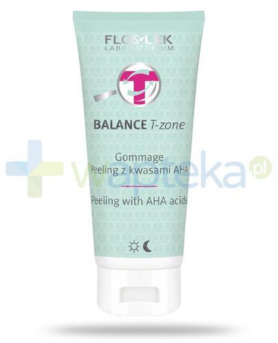 Flos-Lek Balance T-Zone Gommage peeling z kwasami AHA 125 ml