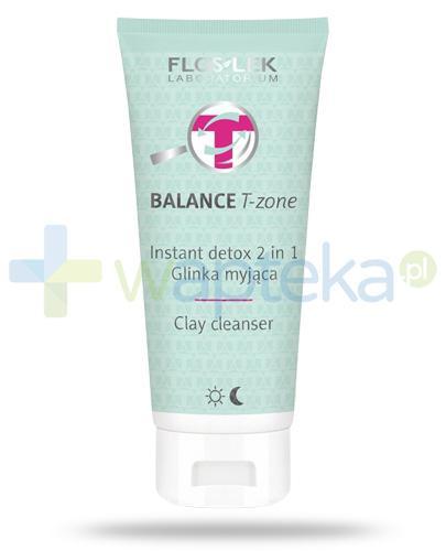 Flos-Lek Balance T-Zone Instant Detox 2w1 glinka myjąca do cery tłustej i mieszanej 125 ml