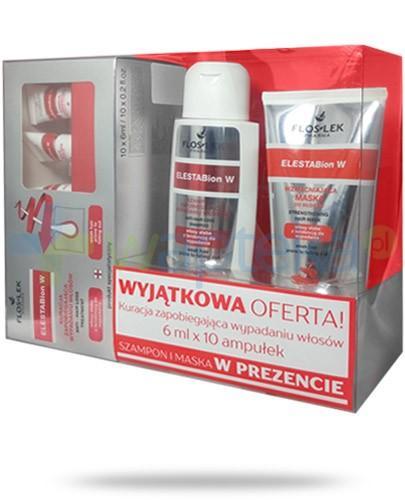 Flos-Lek ElestaBion W ZESTAW terapia intensywnie regenerująca włosy szampon 200 ml + maska 200 ml + ampułki 10x 6 ml