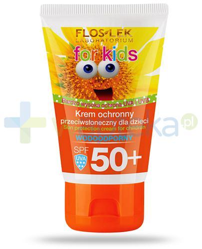 Flos-Lek For Kids wodoodporny krem ochronny przeciwsłoneczny dla dzieci SPF50+ 50 ml
