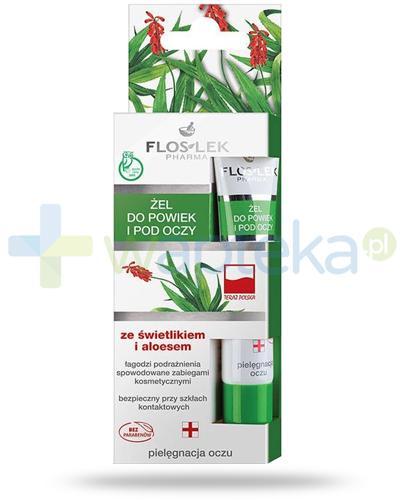 Flos-Lek Pielęgnacja oczu żel do powiek i pod oczy ze świetlikiem lekarskim i aloesem 15 ml