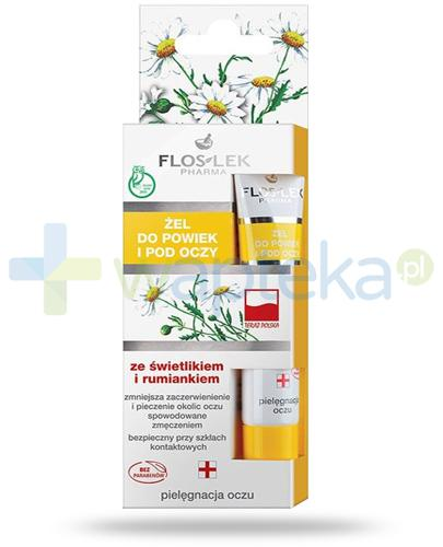 Flos-Lek Pielęgnacja oczu żel do powiek ze świetlikiem i rumiankiem 15 ml