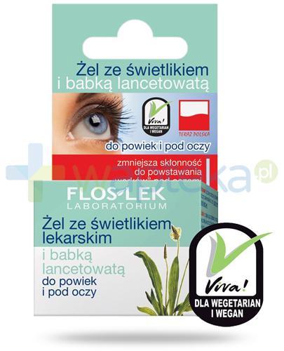Flos-Lek żel do powiek i pod oczy ze świetlikiem lekarskim i babką lancelowatą 10 g