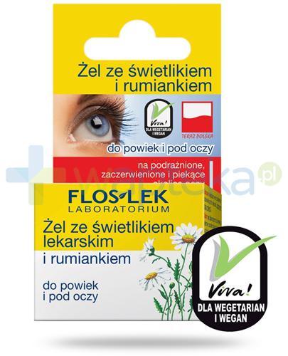 Flos-Lek żel do powiek ze świetlikiem lekarskim i rumiankiem 10 g