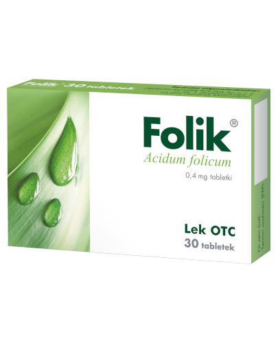 Folik 0,4mg 30 tabletek