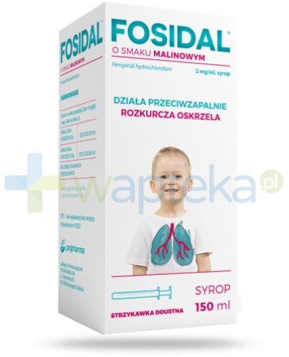 Fosidal syrop 2 mg/ml o smaku malinowym 150 ml + strzykawka doustna