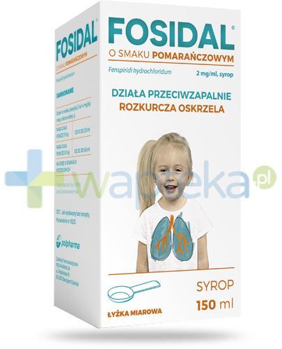 Fosidal syrop 2 mg/ml o smaku pomarańczowym 150 ml + łyżka miarowa