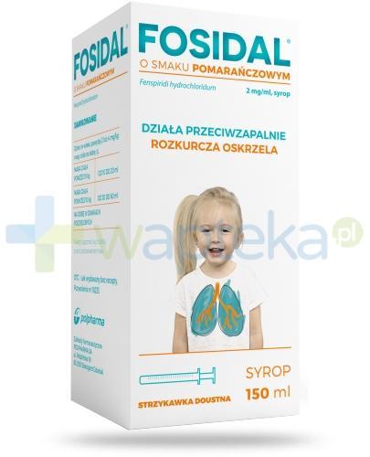 Fosidal syrop 2 mg/ml o smaku pomarańczowym 150 ml + strzykawka doustna
