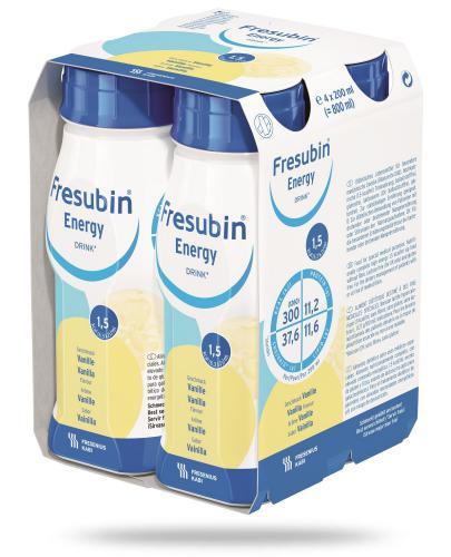 Fresubin Energy Drink Wanilia dietetyczny środek spożywczy 4x 200 ml