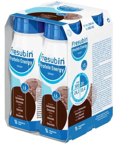Fresubin Protein Energy Drink Czekolada dietetyczny środek spożywczy 4x 200 ml