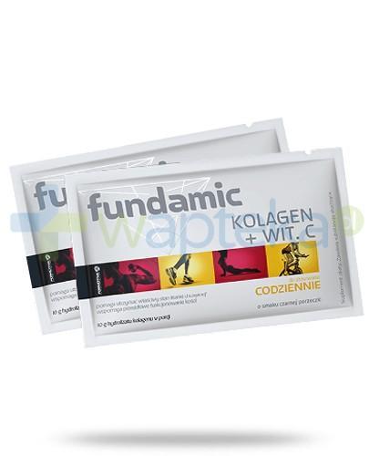 Fundamic Kolagen + witamina C do stosowania codziennie 30 saszetek