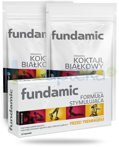Fundamic odżywczy koktajl białkowy po treningu smak waniliowy 2x 300 g + Fundamic Formuła stymulująca [GRATIS]