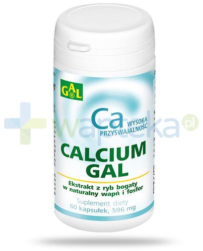 GAL Calcium 596mg 60 kapsułek