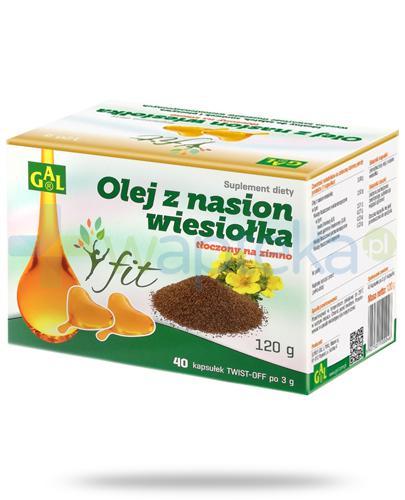 GAL Olej z nasion wiesiołka tłoczony na zimno 40 kapsułek twist-off