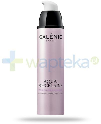 Galenic Aqua Porcelain Fluid nawilżająco-rozjaśniający koloryt skóry 50 ml  + Galenic żel ochronno-aktywny na noc 15ml [GRATIS]