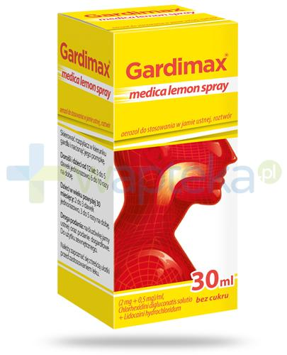 Gardimax Medica Lemon Spray aerozol do stosowania w jamie ustnej bez cukru 30 ml