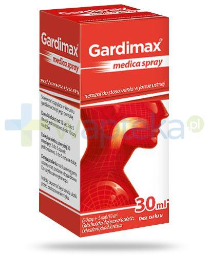 Gardimax Medica Mentol Spray aerozol do stosowania w jamie ustnej bez cukru 30 ml