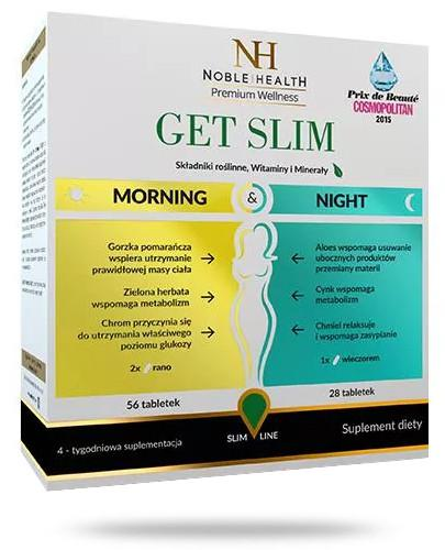 Noble Health Get Slim Morning & Night 4-tygodniowy kompleksowy system redukcji wagi 84 tabletki