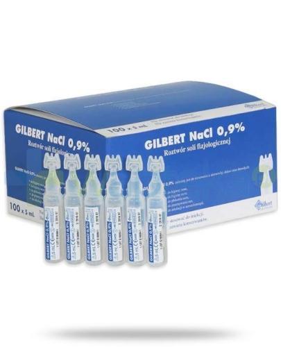 Gilbert NaCl 0.9% 5ml roztwór sól fizjologiczna 100 ampułek