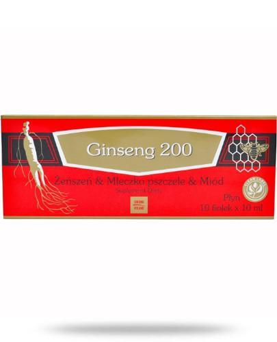 Ginseng 200 Żeńszeń, mleczko pszczele, miód płyn 10x 10 ml