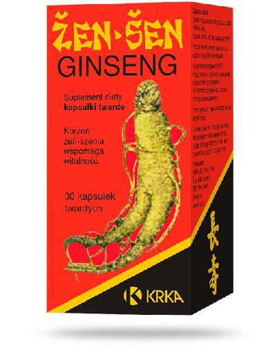 Ginseng Żeń-szeń 350mg wspomaga witalność 30 kapsułek