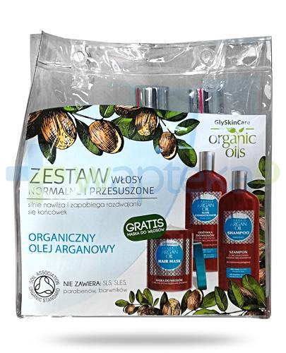 GlySkinCare Argan Oil zestaw do włosów normalnych i przesuszonych szampon 250 ml+ odzywka 250 ml + maska do włosów 300 ml [ZESTAW]