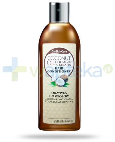 GlySkinCare Coconut Oil odżywka do włosów z olejem kokosowym kolagenem i keratyną 250 ml