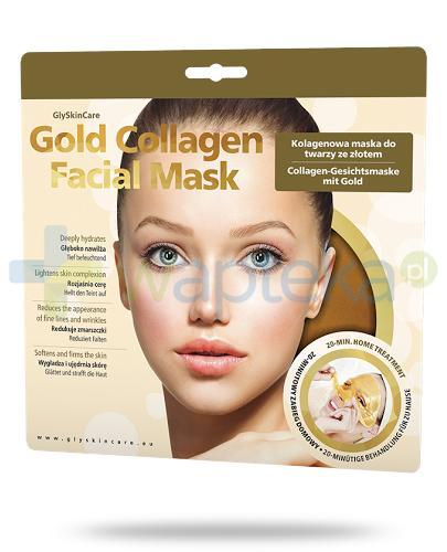GlySkinCare Gold Collagen kolagenowa maska na twarzy ze złotem 1 sztuka [Data ważności 31-03-2018]