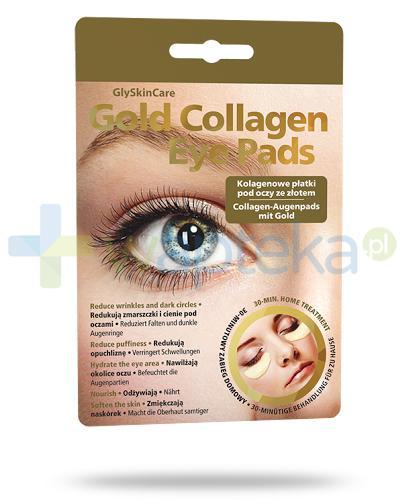 GlySkinCare Gold Collagen kolagenowe płatki pod oczy ze złotem 2 sztuki