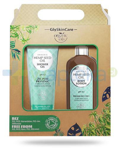 GlySkinCare Hemp Seed Oil żel pod prysznic z organicznym olejem konopnym 250 ml + balsam do ciała z organicznym olejem konopnym 250 ml [ZESTAW]