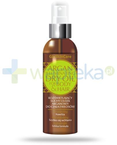 GlySkinCare rozświetlający suchy olejek arganowy do ciała i włosów 125 ml