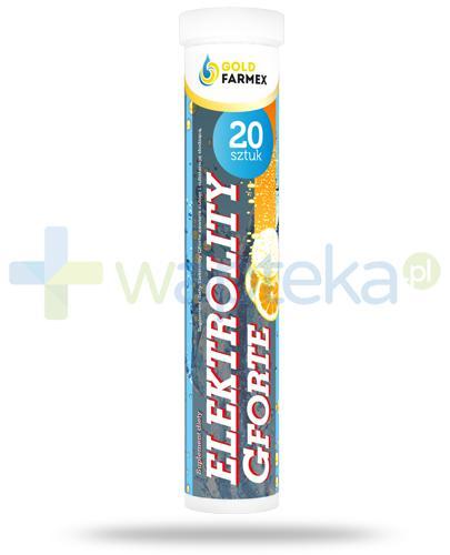 GoldFarmex Elektrolity GForte smak pomarańczowy 20 sztuk